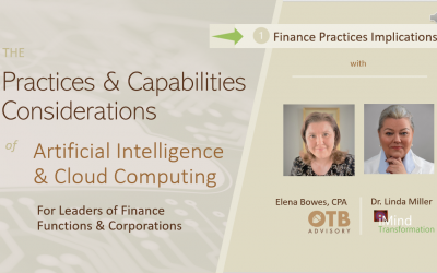 Finance Practices Implications – AI and Cloud Computing