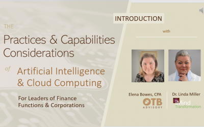INTRODUCTION Practices & Capabilities Implications of AI and Cloud Computing in Finance